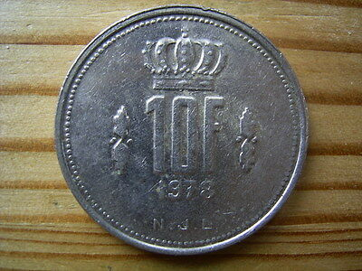 1978  Luxembourg 10 Franc Coin Collectable