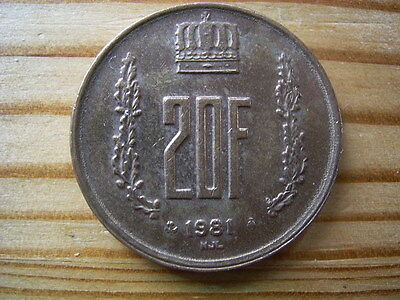 1981  Luxembourg 20  Franc Coin Collectable