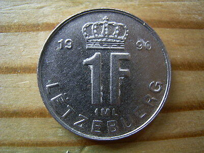 1990  Luxembourg 1  Franc Coin Collectable