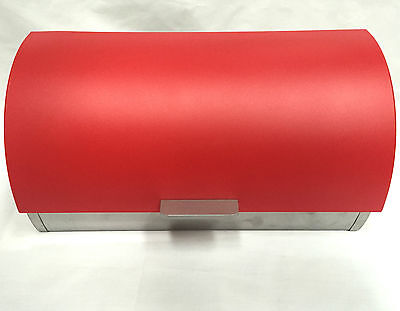 New Large Bread Bin Easy Open Front Door RED WHITE BLACK CLEAR Home Deco RRP$69