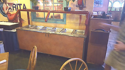8ft Hot Food BUFFET with Sneeze Guard Electric