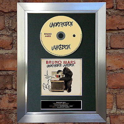 BRUNO MARS Unorthodox Jukebox Signed Autograph CD & Cover Mounted Re-Print A4 27