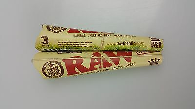 2 Packs of 3 Ea. Classic RAW Rolling Paper Cones Organic Hemp Pre-Rolled King's