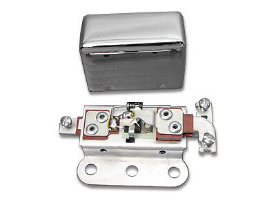 V-Twin Solid State 6 Volt Relay with Smooth Chrome Cover 32-0056