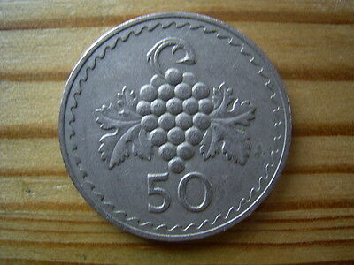 1971  Cyprus 50 Mils Coin Collectable