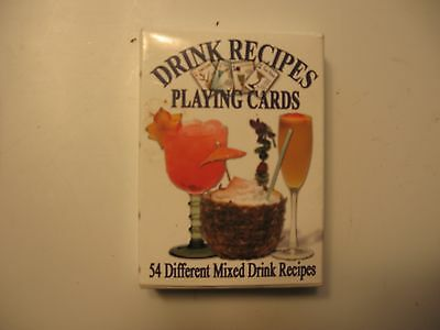 Drink Recipes Playing Cards NEW 54 Recipes NO SHRINK WRAP