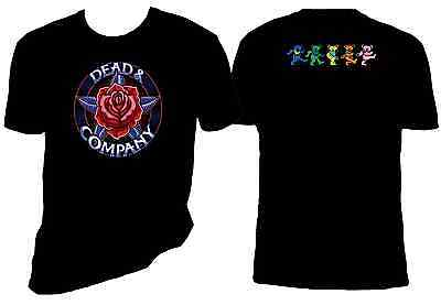 Dead and Company Red Rose 2 Sided t shirt, Sizes S-6X, Grateful Dead
