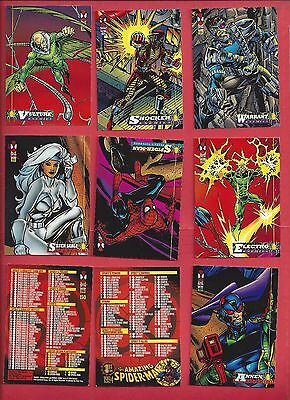 1994 Fleer The Amazing Spider-man  Complete Your Set U pick 8 cards NM to Mint