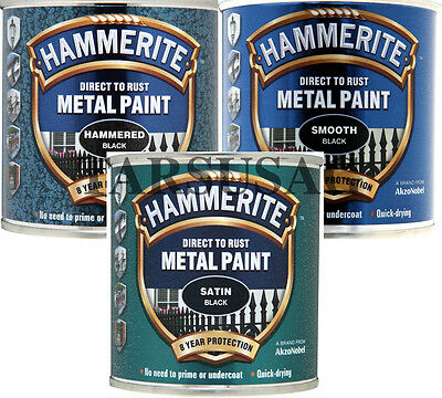 Hammerite Direct To Rust Smooth 250ml Metal Paint All Colours Fast Free P&P !!!