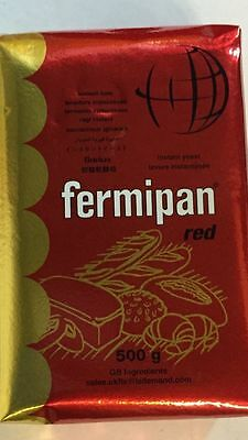 500g pack Fermipan Instant Red Dried Yeast Bakers, Bakery, Bread, Half kg bread
