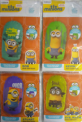 Colourful Inflatable Weighted Bop Bag Despicable Me Minions  33 cm Tall