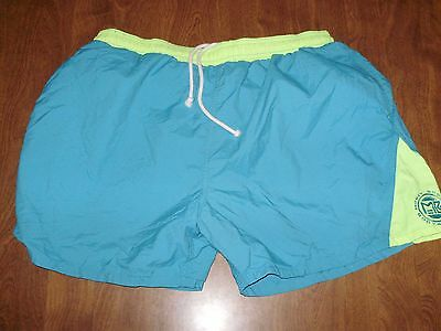 VINTAGE 1980's MOREY BOOGIE BODYBOARDS SWIM TRUNKS BATHING SUIT mens XL