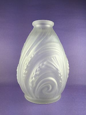 French Art Deco EtaLeune Epis Glass Vase Etling