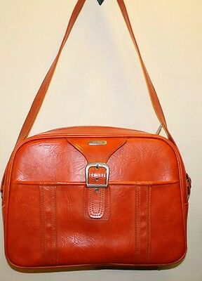 Vintage Samsonite Suitcase Carry-on Overnight Bag Orange