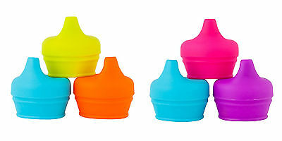 Boon Snug Spout 3PK Lids Fit Most Cups Baby Sippy Spill Proof Silicone BPA Free