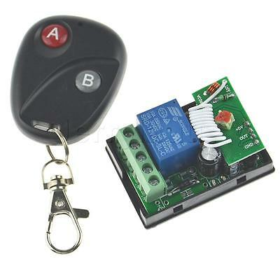 12V 1CH Receiver & Transmitter Wireless Remote Control Switch for Garage Door