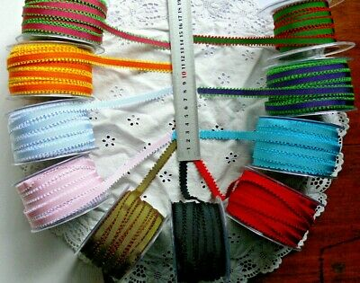 Grosgrain Ribbon Picot Edge 10 Colour Varieties 3 MetLengths 10mmWide ChoiceAL11