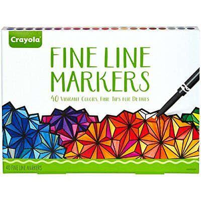 NEW Crayola Adult Fine Line Markers  40 Count FREE SHIPPING