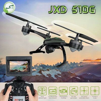 JXD 5.8G 510G RC Quadcopter with Monitor 2MP HD Camera Upgraded 509G FPV Drones