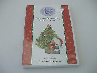 Crafter's Companion :- Party Paws /Christmas Papercrafting C.D. Rom