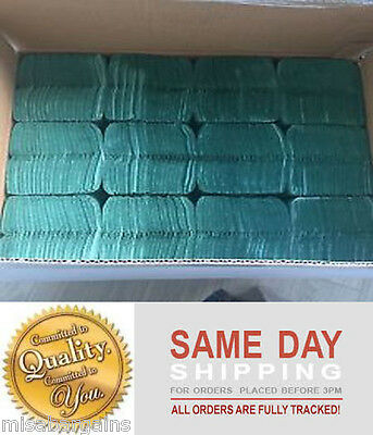 5040 Bulk Buy Green Paper Hand Towels C fold 2 Boxes x 2520 tissues