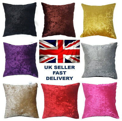 Starex  Soft Large Crush Velvet Cushion Covers 13 Colours and  3 Size