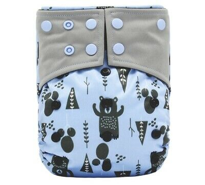 New Adjustable Washable Reusable Minky Modern Cloth Nappy Charcoal Diaper