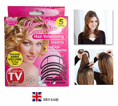 5 Pc HAIR VOLUMISING INSERTS Lifters Bumpits Lift Volume Fringe Bumpit Volumiser
