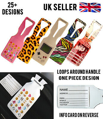 All Travel Holiday Bag Luggage Label Tags Oneloop Design With Name Id