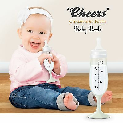 Cheers Baby Bottle Champagne Flute from Bubblegum Novelty Gift by Courtney Wood