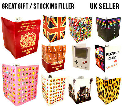 All Designs Passport Cover Uk Us European Carribean Holder Protector Wallet Case