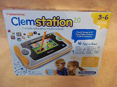 CLEMSTATION 2.0 SAPIENTINO CLEMENTONI CONSOLE EDUCATIVA MULTIMEDIALE   cod.10617