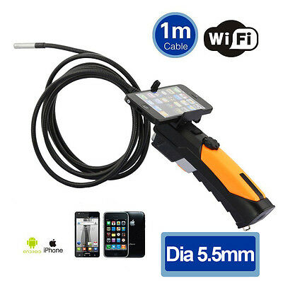 720P HD Wifi 5.5mm Borescope Snake Camera Car Inspection Video Cam For Iphone