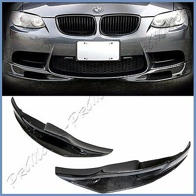 For 08-13 BMW E92 E93 M3 Bumper Carbon Fiber 3D Type Front 2PCS Splitter Add Lip