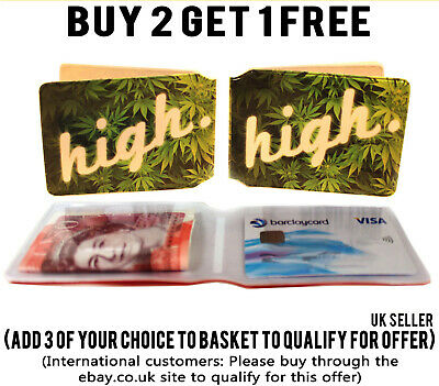 High Bus Pass Wallet Weed Credit Travel Cash Rail Id Holder For Oyster Card