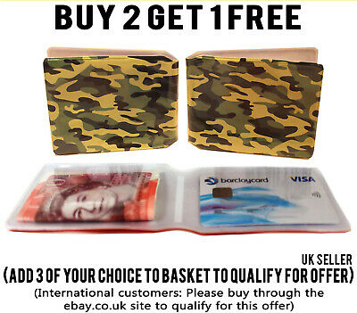 Army Camo Bus Pass Wallet Credit Travel Cash Rail Id Holder For Oyster Card