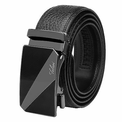 Falari® Men's Genuine Leather Dress Ratchet Belt 35mm Adjustable Size 7014