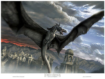 The Lord of the Rings:  Fellbeast lithograph by Jerry VanderStelt