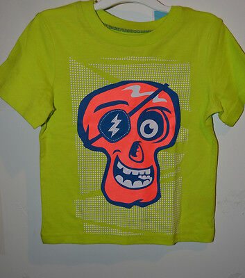 CIRCO Infant Toddler Boys T- Shirt with Skull Various Sizes NWT Green