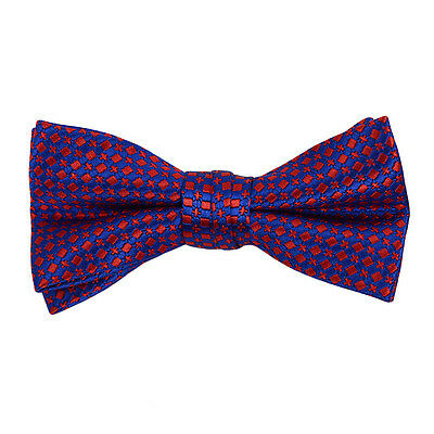Boys Blue & Red Geometric Banded Bow Tie (FBB05)