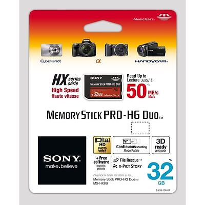 Sony 32gb Memory Stick Pro-HG Duo for Compatible Sony Cameras UK Seller
