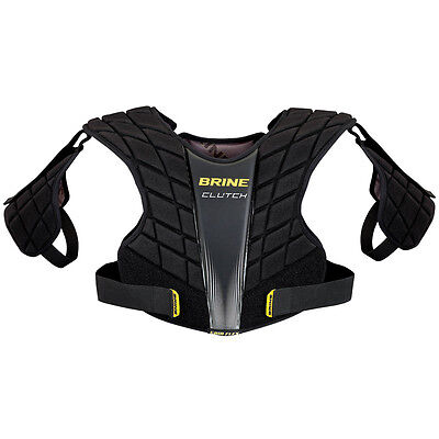 Black Medium Size New Brine Clutch Lacrosse Mid Shoulder Pads