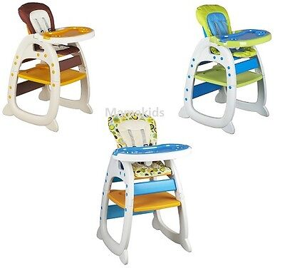 New Mamakids 3in1 Baby Infant Feeding Highchair + Play Table Toddler Table Chair