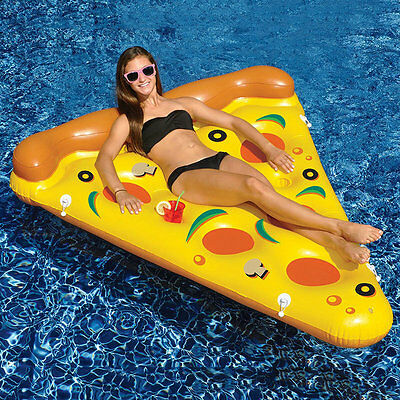 Water Toy Giant Inflatable Pizza Slice Floating Bed/Raft Air Mattress 180*150 CM