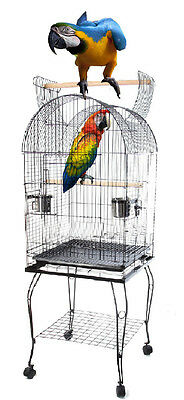 Large Bird Cage Play Top Parrot Finch Macaw Cockatoo Pet Supplies Perch grate