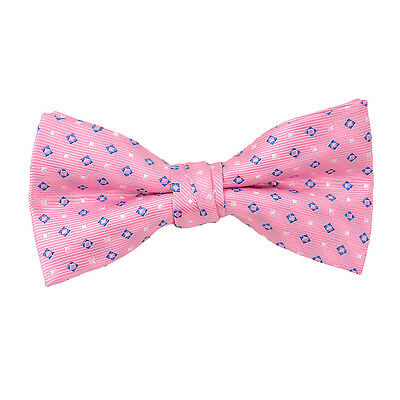 Boys Pink and Blue Dotted Bow Tie (FBB38)