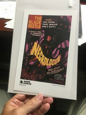 The Black Beetle, Necrologue Card (not Comic) Signed By Francavilla  NM
