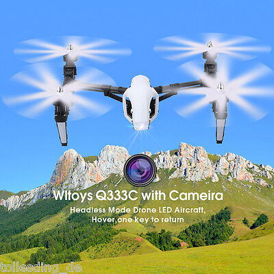 WLtoys Headless RC Drone Quadcopter 2.4G 4CH 6 Axis Deformation Control Camera