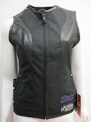 Speed & Strength Womens Wicked Garden Motorcycle Vest Black X-Small XS 877268