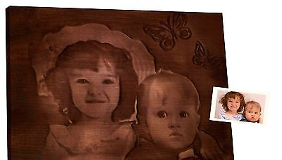 Handcrafted Custom Woodcarved portrait of your kids picture you send us